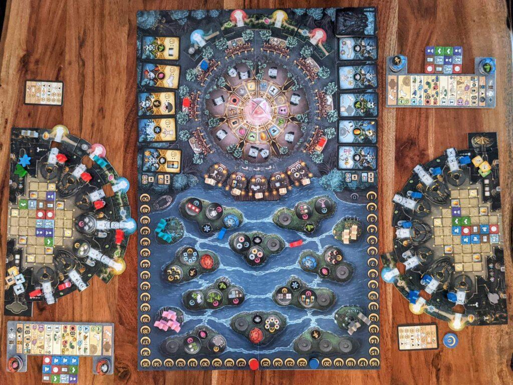Bonfire Review Spielplan von oben