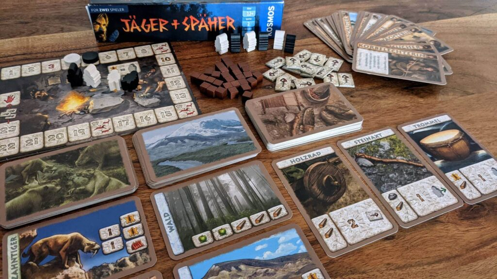 Jäger und Späher Review Spielmaterial