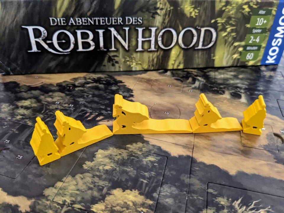 Die Abenteuer des Robin Hood Review Spielmaterial