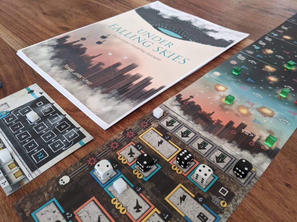 Solospiel - Spiel für 1 Person: Under Falling Skies