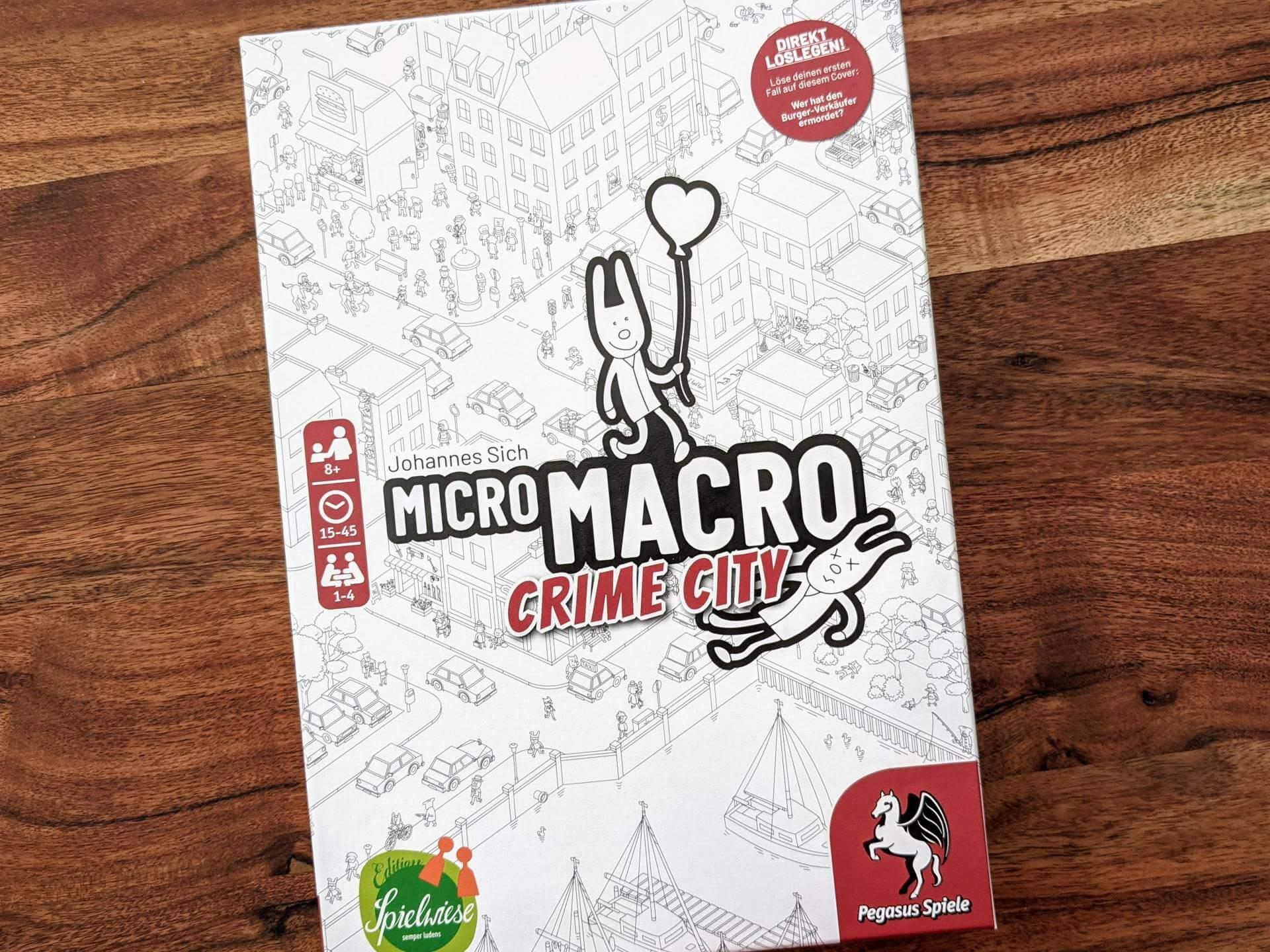 MicroMacro Crime City Review - nominiert zum Spiel des Jahres 2021
